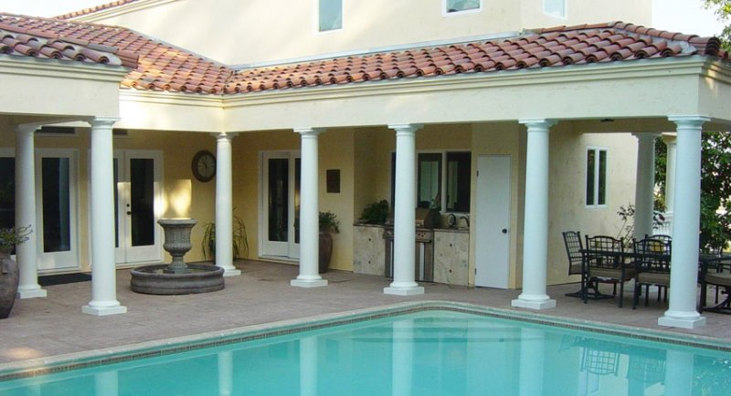#40 Composite Pool Columns