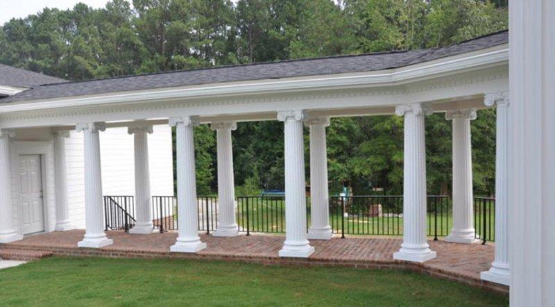 #37 Fluted Walkway Columns