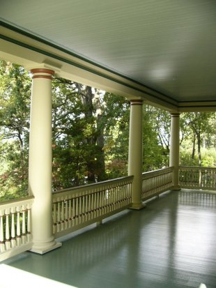 Victorian Columns and Balustrade