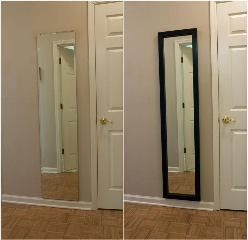 Full Length Mirror   Frame   Before and After. Bathroom Mirror Frames   Bathroom Vanity Mirror Frame   Custom