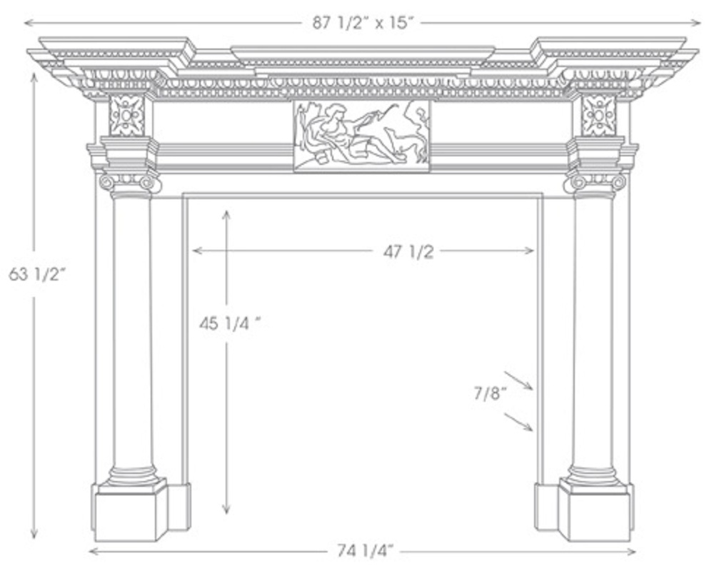 St James English Marble Mantel