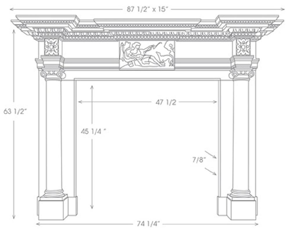 st james english marble mantel marble surrounds. Black Bedroom Furniture Sets. Home Design Ideas