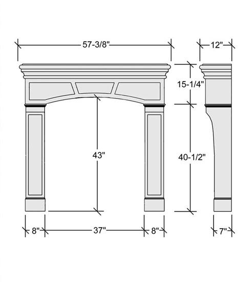 Thin Cast Stone Bungalow Fireplace Mantel Surround Fireplace Mantels Mantelcraft