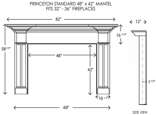 Wood Fireplace Mantels Princeton Standard Fireplace Mantel Mantelcraft