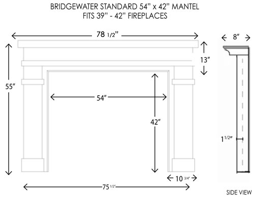 wood fireplace mantels bridgewater standard