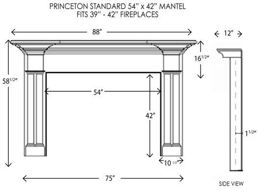 Wood Fireplace Mantels Princeton Standard