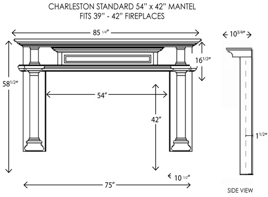 wood fireplace mantels fireplace mantel charleston. Black Bedroom Furniture Sets. Home Design Ideas