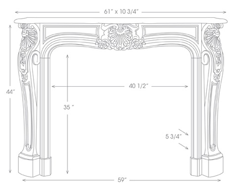 Adelaide Mantel Specification Diagram