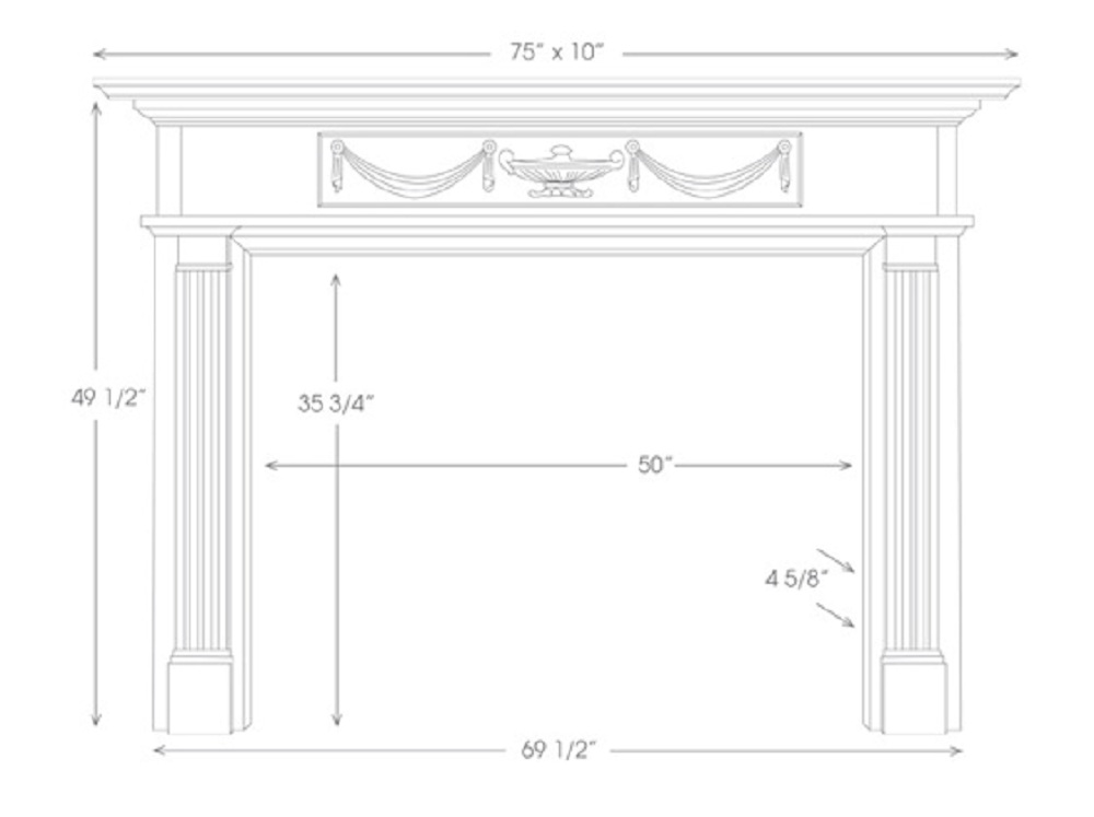 The Hamilton Marble Fireplace Mantels Mantelcraft