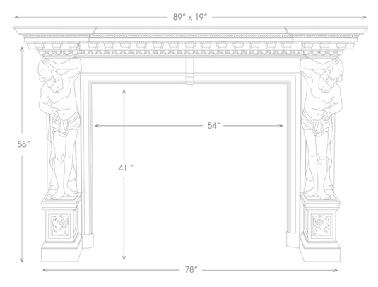 Hercules Mantel Illustration Diagram