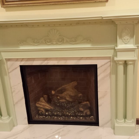 Newly Installed Victoria Fireplace Mantel Pic 2