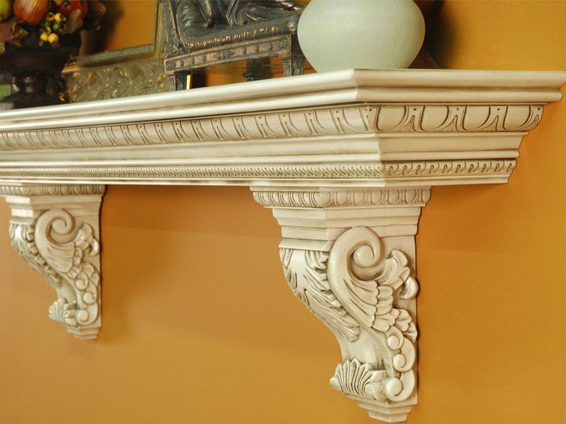 Gallery For > Fireplace Mantel Shelf