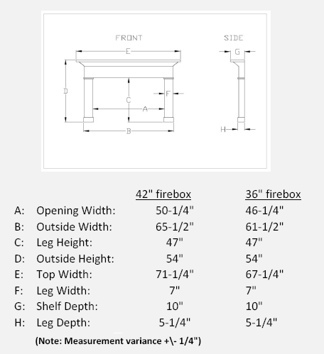 Travertino Arch Stone Mantel Specifications